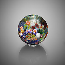 Coral Reef Sphere by Jeremy Sinkus (Art Glass Paperweight)