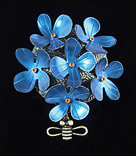 Bloom Pin by Lisa and Scott  Cylinder (Metal Brooch)