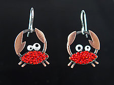 Crabby Earrings by Lisa and Scott  Cylinder (Metal Earrings)