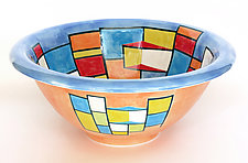 Inside Looking Outside by Rod  Hemming (Ceramic Bowl)