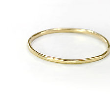 14K Yellow Gold Stacking Band by Melanie Casey (Gold Ring)
