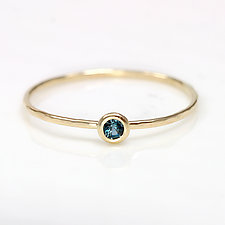 London Blue Topaz Ring in 14K Yellow Gold by Melanie Casey (Gold & Stone Ring)