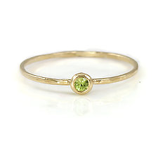 Peridot Stacking Ring in 14K Yellow Gold by Melanie Casey (Gold & Stone Ring)