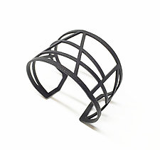 Web Cuff by Melissa Stiles (Steel Bracelet)