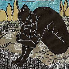 Longing by Ouida  Touchon (Linocut Print)