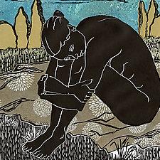 Longing by Ouida  Touchon (Linocut Print)