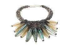 Calyx Neckpiece - Moon by Kate Rothra Fleming (Art Glass Necklace)