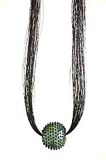 Meteorite Horsehair Necklace by Kate Rothra Fleming (Art Glass Necklace)