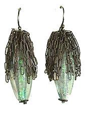 Calyx Earrings by Kate Rothra Fleming (Art Glass Earrings)