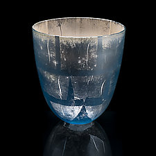 Blue Silver Bowl by Fred Kaemmer (Art Glass Bowl)