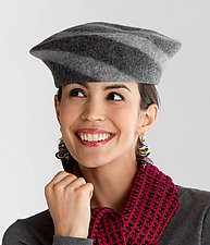 Flat Top Beret by Miriam Carter  (Felted Wool Hat)