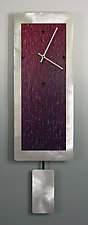 Wine Blend on Aluminum with Pendulum by Linda Lamore (Painted Clock)