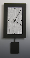 Wide Pendulum Clock by Linda Lamore (Painted Metal Clock)