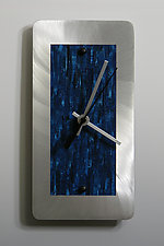 Aluminum Mini Shelf Clock by Linda Lamore (Painted Metal Clock)