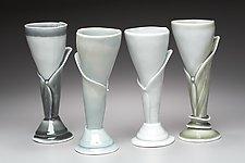Calla Wine Stems by Marion Angelica (Ceramic Wine Glass)