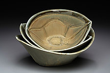 Oval Serving Bowl by Marion Angelica (Ceramic Bowl)