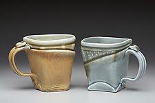 Softly Squared Mug by Marion Angelica (Ceramic Mug)