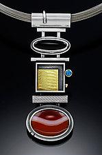 Desert Neckpiece by Michele LeVett (Gold, Silver & Stone Necklace)