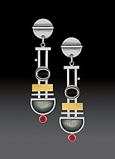 Pendulum Earrings by Michele LeVett (Gold, Silver & Stone Earrings)