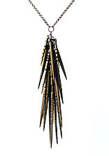 Bronze Spire Necklace by Lauren Blais (Silver & Bronze Necklace)