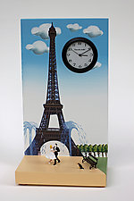 Waltz at Eiffel Tower by Pascale Judet (Painted Clock)