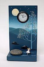 Blue Waltz by Pascale Judet (Painted Clock)