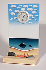 Time at the Beach by Pascale Judet (Wood Clock)