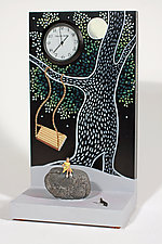 Swinging by Pascale Judet (Wood Clock)