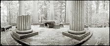 Mausoleum - Roche Harbor by Mel Curtis (Black & White Photograph)
