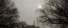 Monument at Twilight by Mel Curtis (Black & White Photograph)