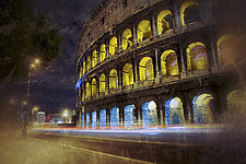 Roma #176v4 The Colosseum 2010 by Mel Curtis (Color Photograph)