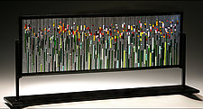 Tulip Field by Ernest Porcelli (Art Glass Sculpture)