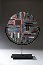 Circle #1 by Ernest Porcelli (Art Glass Sculpture)