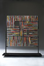 Square by Ernest Porcelli (Art Glass Sculpture)