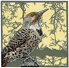 Flicker Sky by Barbara  Stikker (Linocut Print)