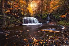 Secret Falls II by Matt Anderson (Color Photograph)