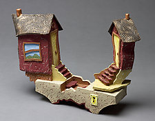 Tiny House Friends by Byron Williamson (Ceramic Sculpture)