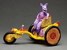 Purple Beastie Mobile by Byron Williamson (Ceramic Sculpture)