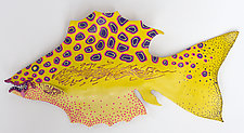 Yellow Miss Sunshine by Byron Williamson (Ceramic Wall Sculpture)