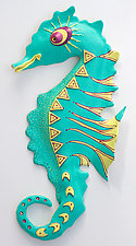 Sunny Seahorse by Byron Williamson (Ceramic Wall Sculpture)