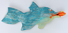 Yellow-Spotted Tarpon by Byron Williamson (Ceramic Wall Sculpture)