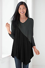 Colorblock Deborah Tunic by Comfy USA  (Knit Tunic)