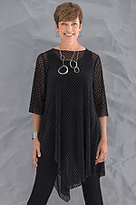 Jolie Lattice Tunic by Comfy USA  (Knit Top)