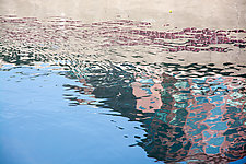 Water Reflection in Pink by Cindy A. Stephens (Color Photograph)