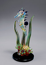 Seahorse Reef Sculpture by Jeremy Sinkus (Art Glass Sculpture)