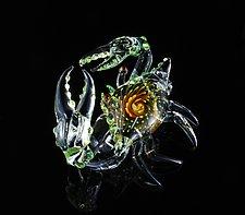 Jewel Series Crab by Jeremy Sinkus (Art Glass Sculpture)