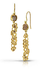 Diamond Scribble Dangles by Shauna Burke (Gold & Stone Earrings)