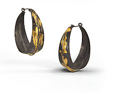 Keum-Bo Hoops by Shauna Burke (Gold & Silver Earrings)