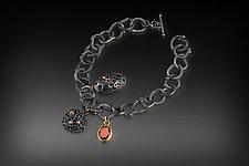Bejeweld Hive Charm Bracelet by Shauna Burke (Gold, Silver & Stone Bracelet)