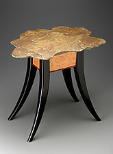 The Jackson Stone Table by Peter Dublanica (Wood & Stone Side Table)